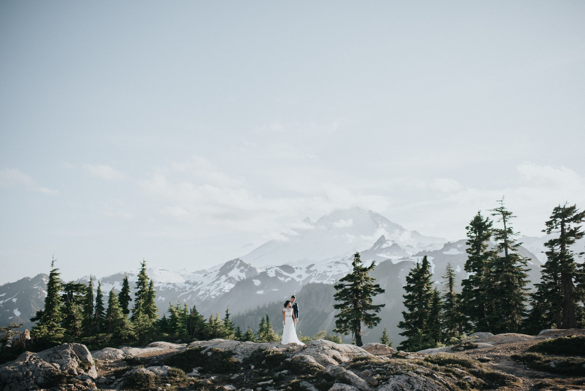 artist point styled photoshoot with mount baker in the background