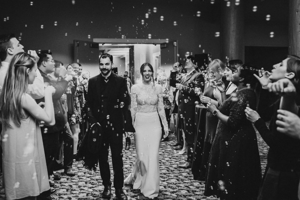 Alderbrook Resort Wedding bubble exit