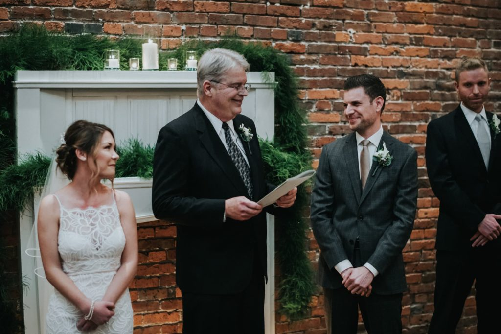 officiant talking at the start of the ceremony