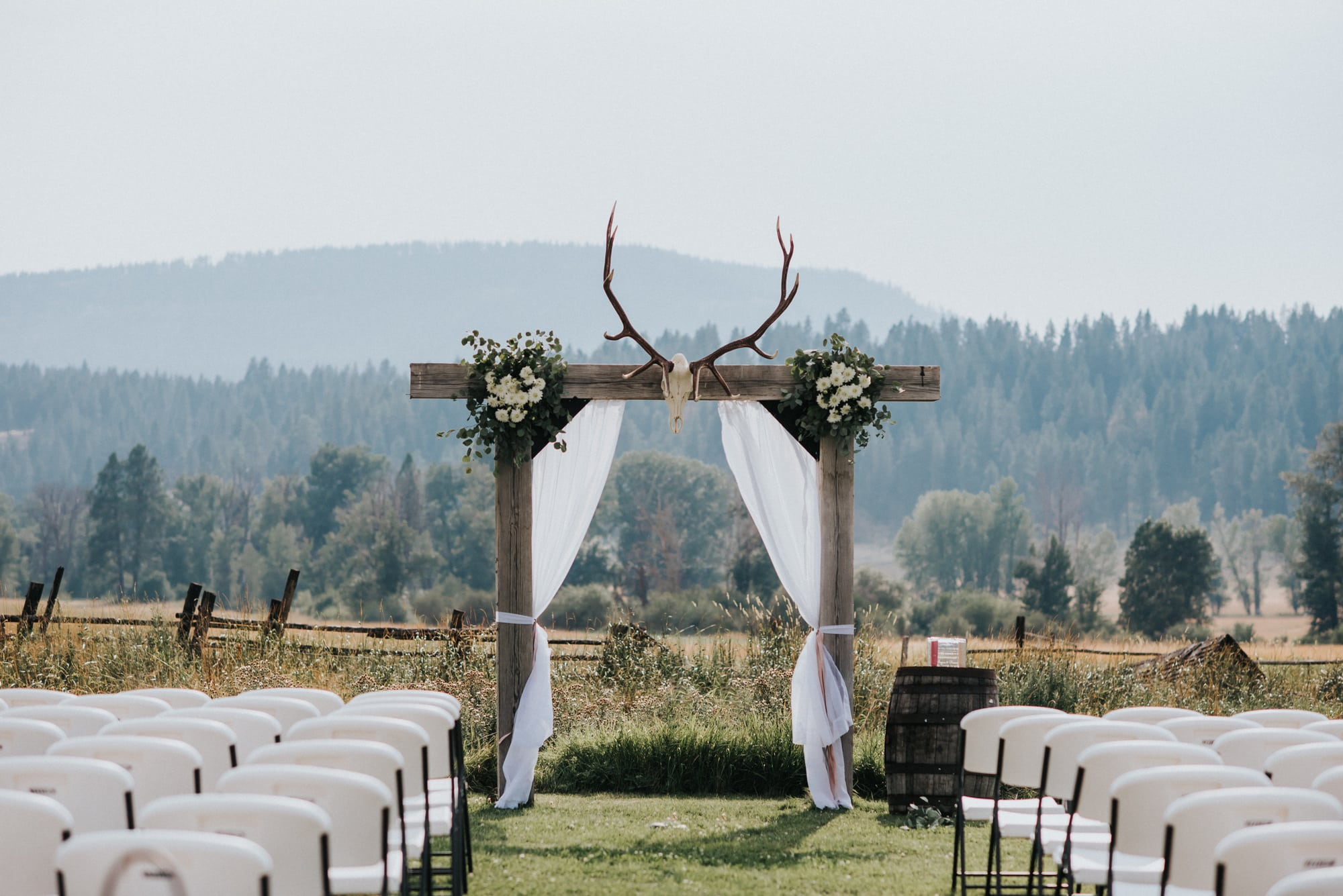 special alter for wedding seattle outdoor wedding ceremony