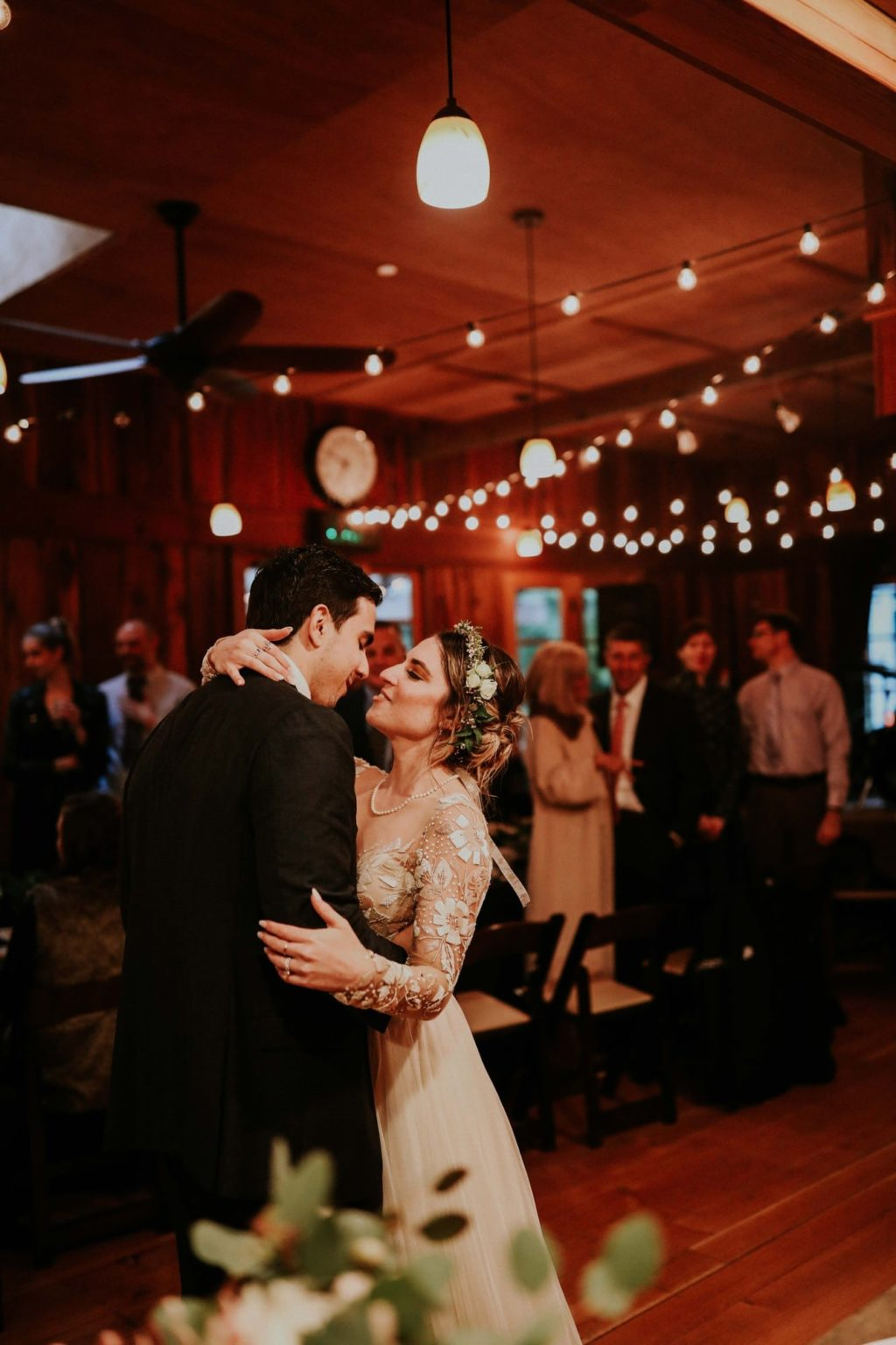 first dance at a bohemian treehouse point wedding