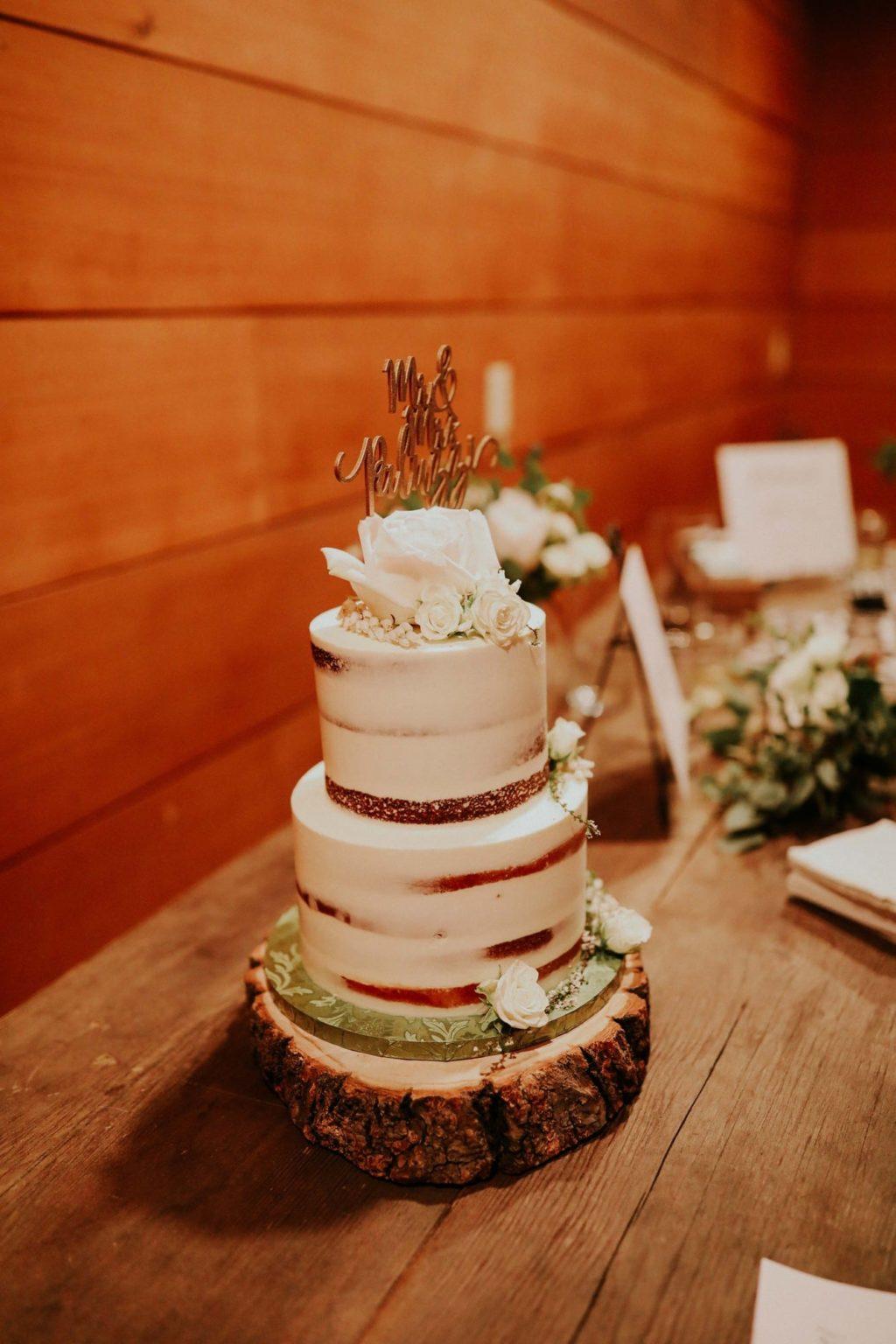 bohemian naked cake