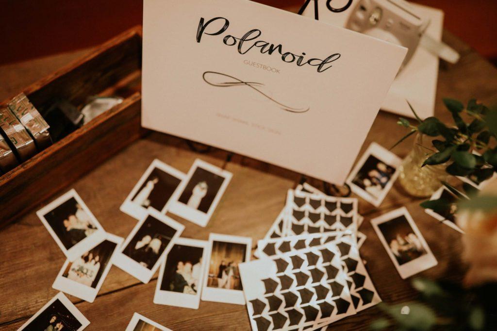 polaroids at reception