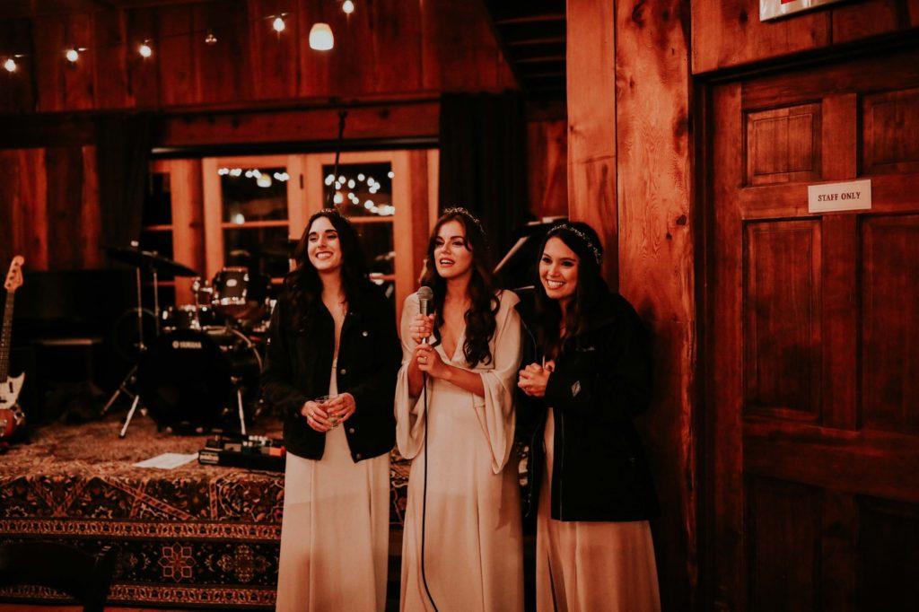 bridesmaids giving a speech