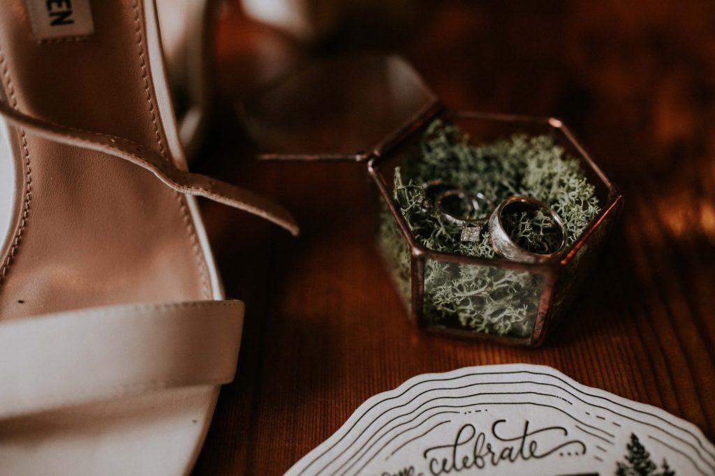 woodsy wedding ring box