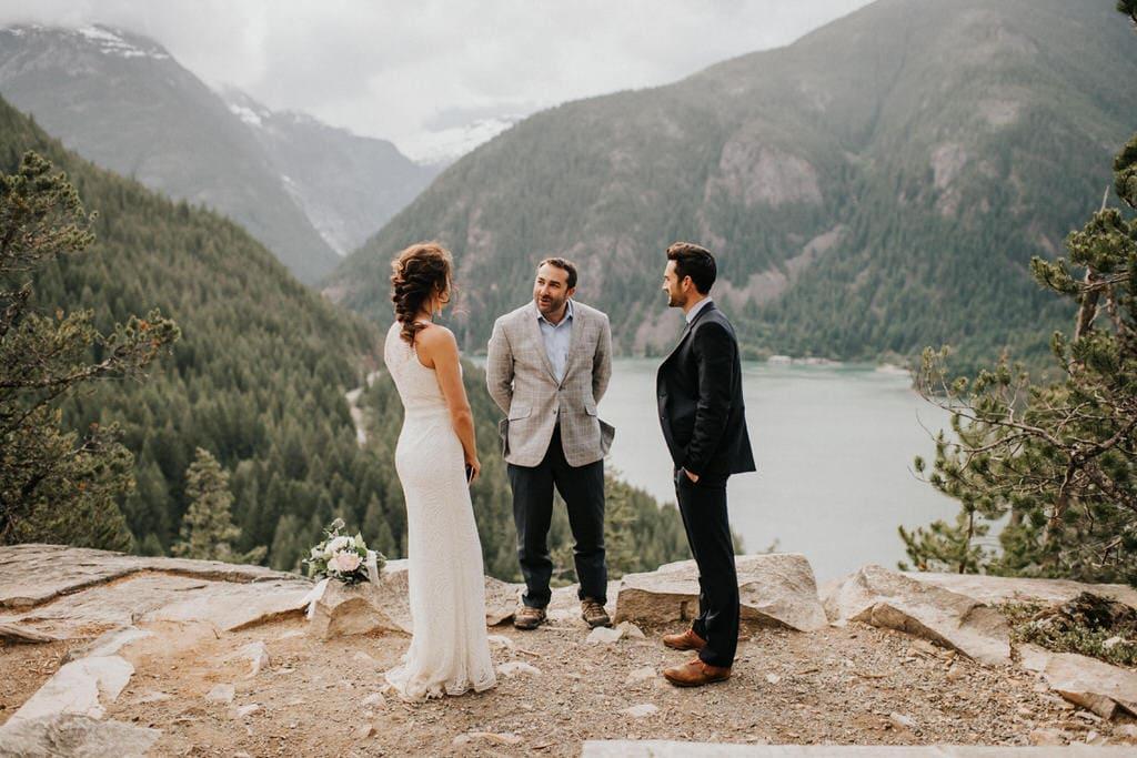 wedding ceremony at Diablo lake