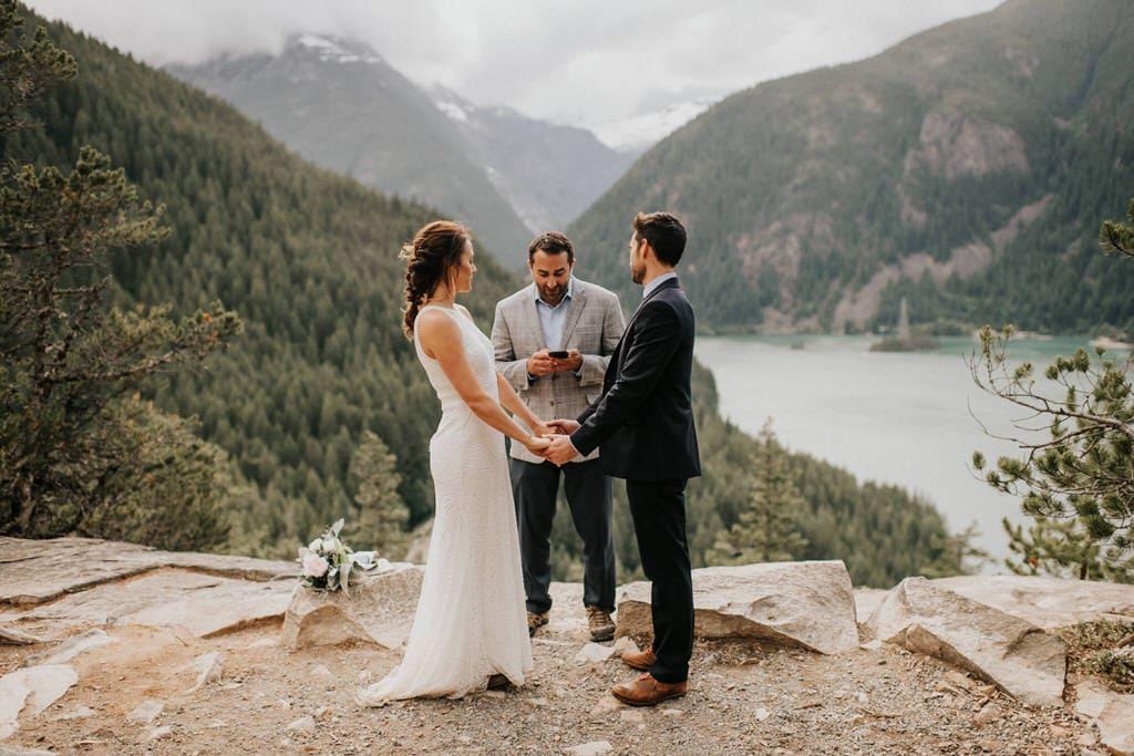 diablo lake elopement ceremony