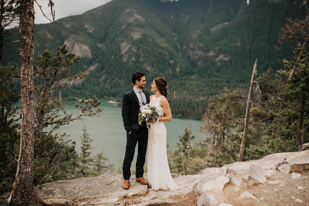 Diablo Lake elopement photos