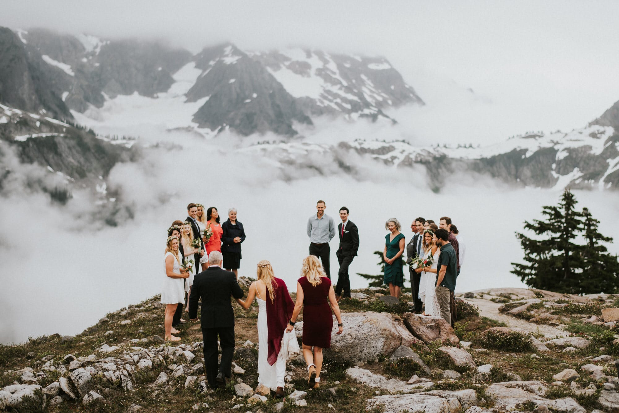 North Cascades Intimate Wedding with mount shuksan in the backgroun