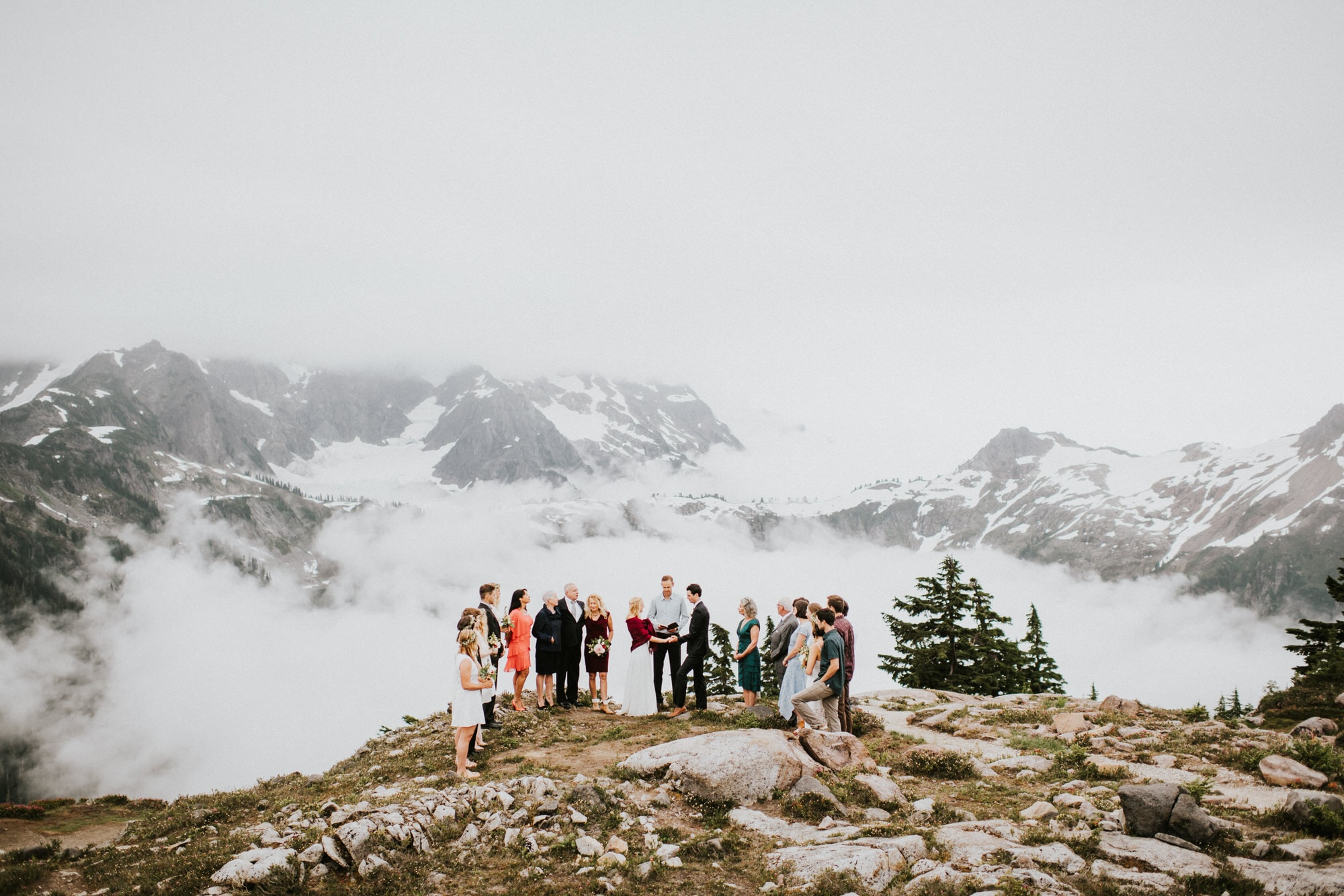 North Cascades Intimate Wedding neat mount shuksan