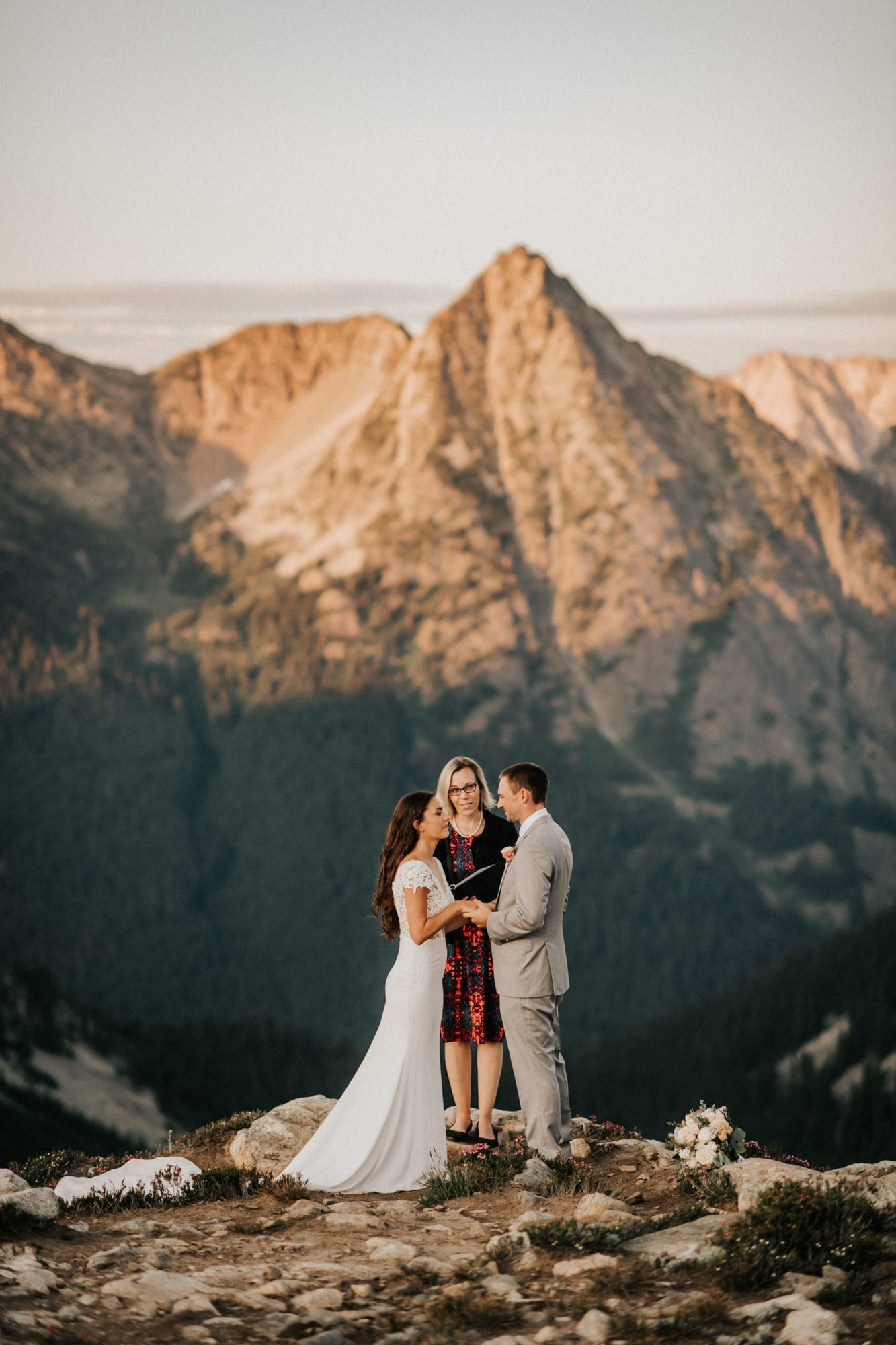 ceremony during north cascades elopement