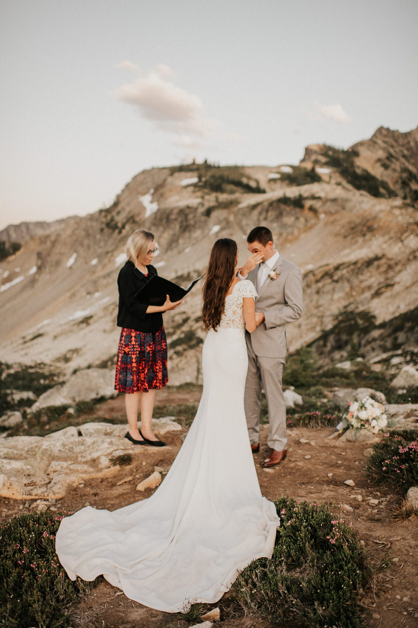 groom gets teary eyed during north cascades elopement