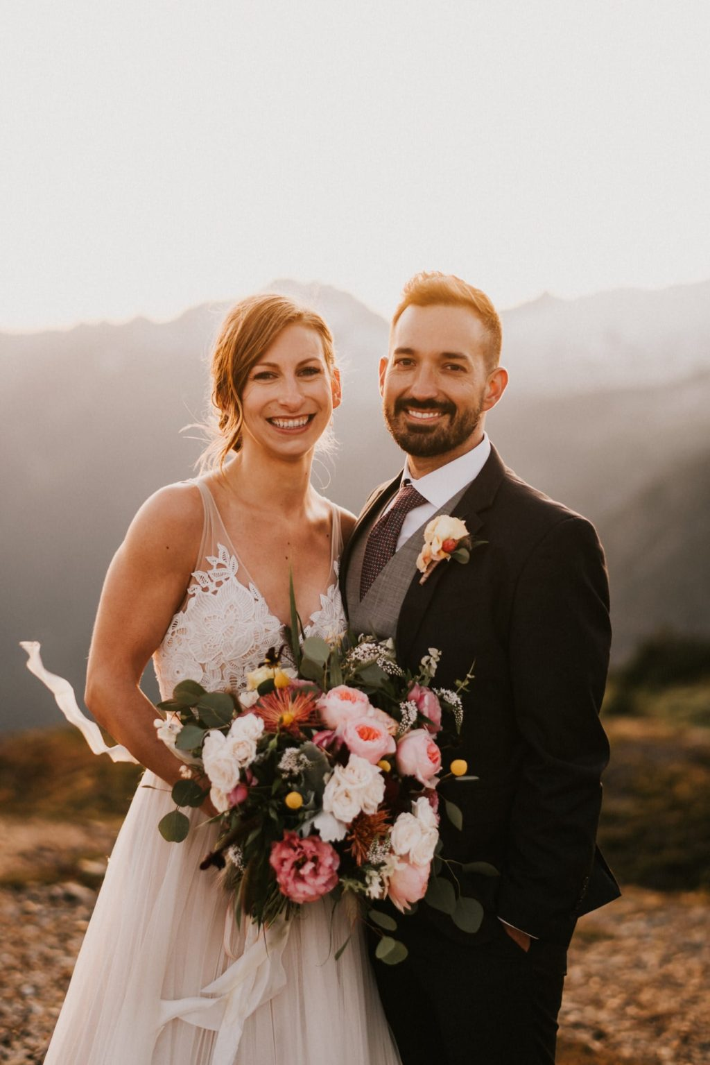 the perfect bouquet for an adventure wedding