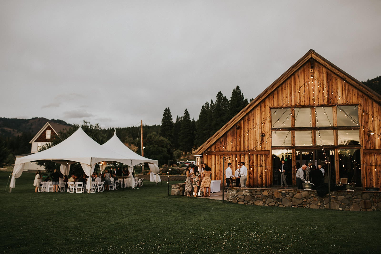 seattle wedding venue the cattle barn exterior photo