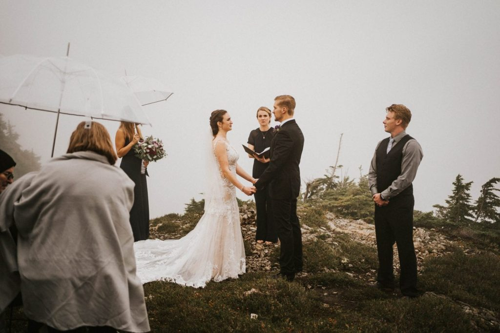 bride and groom at their ceremony