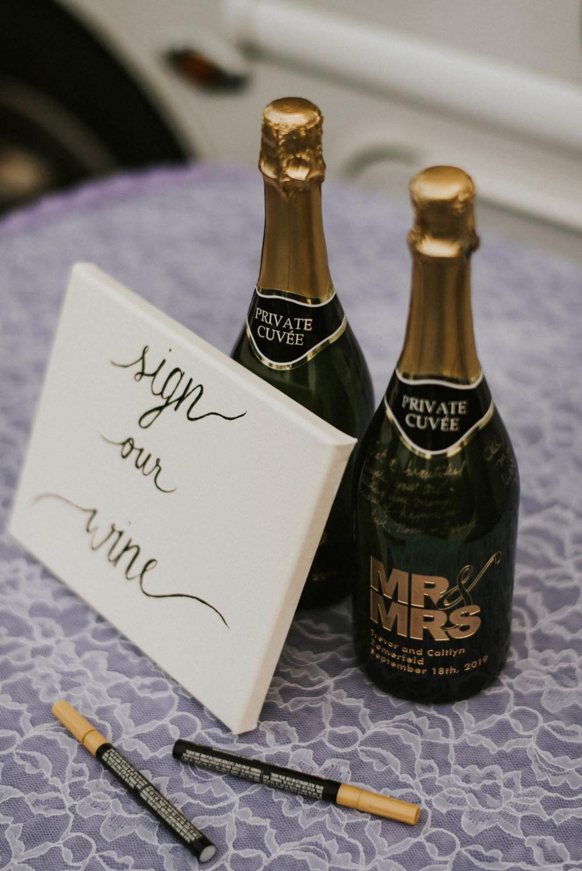 champagne bottles