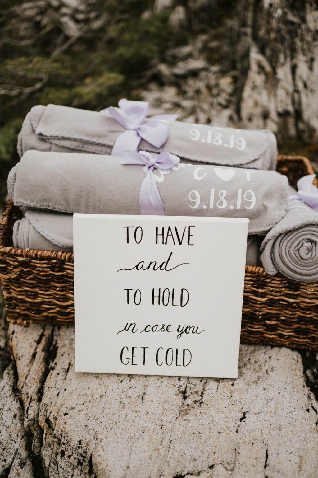 Blankets in a basket