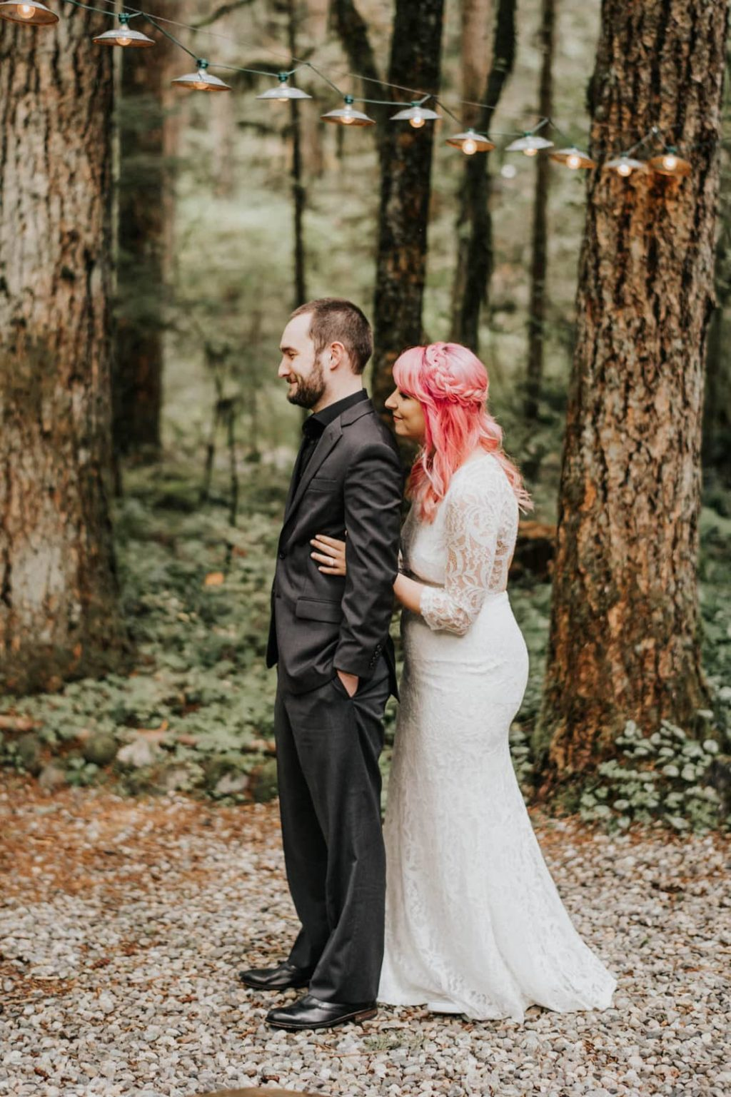 first look at alternative mountain elopement